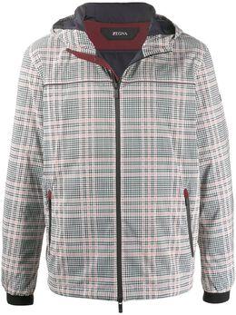 Z Zegna клетчатая куртка с капюшоном VU028ZZ096