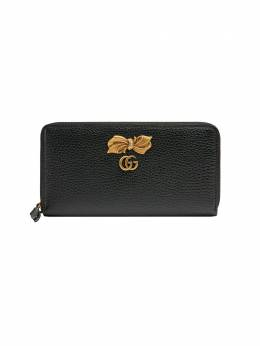 Gucci Leather zip around wallet with bow 524291CAOXT