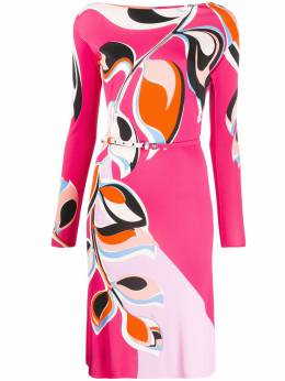 Emilio Pucci платье-кимоно с принтом 0EJH410E842