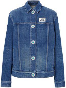 Burberry джинсовая куртка с логотипом 8025250