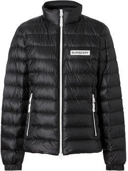 Burberry куртка-пуховик с логотипом на груди 8026496