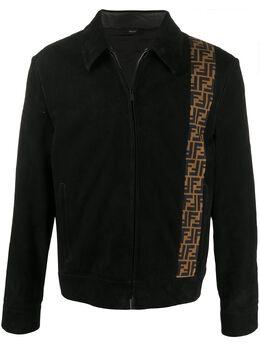 Fendi куртка на молнии с логотипом FF FPJ020ABUN