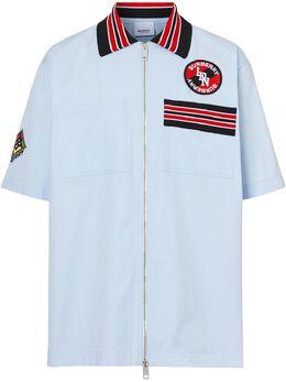 Burberry рубашка на молнии с логотипом 8023790