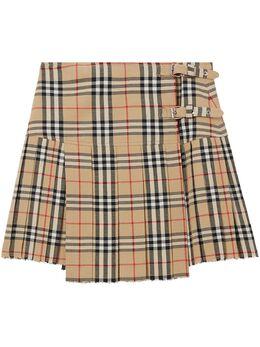 Burberry юбка-килт в клетку Vintage Check 8025832