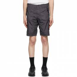 Stone Island Grey Nylon Metal Shorts 7215L1029
