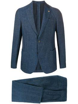 Lardini однобортный пиджак из ткани шамбре EI078AEIA54423
