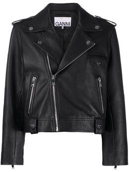 Ganni укороченная байкерская куртка F4827