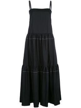 Rosetta Getty ярусное платье без рукавов 12205H5062