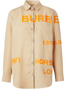 Burberry рубашка с принтом Horseferry 8029006
