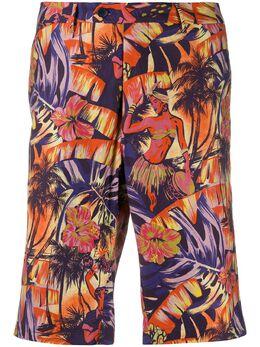 Etro плавки-шорты с гавайским принтом 1W6564005
