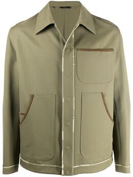 Fendi куртка с контрастной отделкой FW0624ABA4