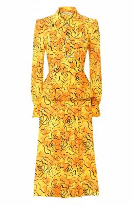 Шелковое платье Alessandra Rich FAB2071-F2740