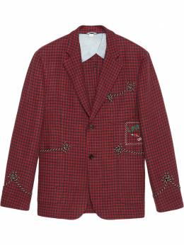 Gucci пиджак с нашивкой Cassandra 568650ZAB7H