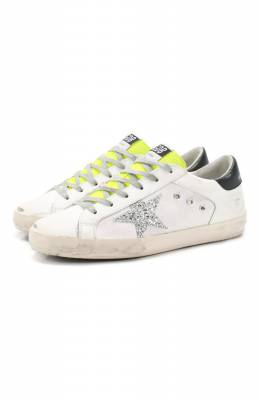 Комбинированные кеды Superstar Golden Goose Deluxe Brand G36WS590.V82