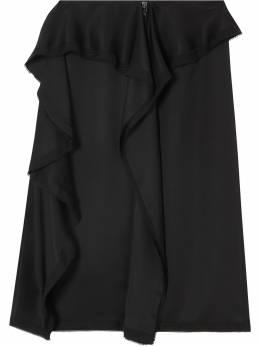 Burberry юбка с оборками 8024336