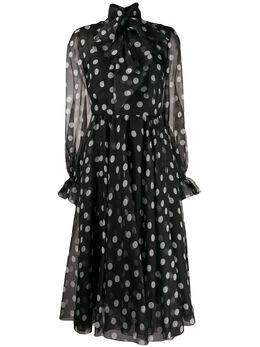 Dolce&Gabbana прозрачное платье с узором в горох F6H5YTIS1BQ