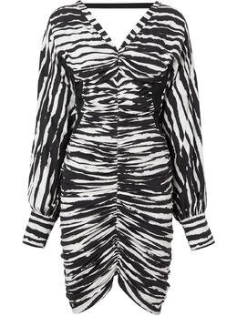 Burberry платье мини с зебровым принтом 4564230