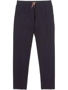 Burberry спортивные брюки с лампасами в полоску 8028531