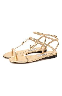 Кожаные сандалии Alodie Jimmy Choo AL0DIE FLAT/MNA