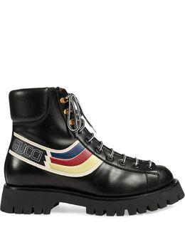 Gucci ботинки со шнуровкой и графичным принтом 5969220GQ50