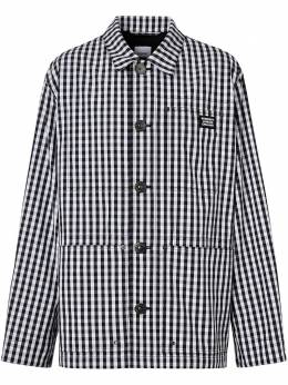 Burberry куртка-рубашка в клетку гингем 8029338