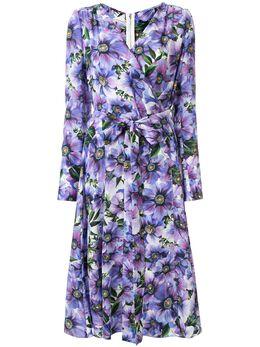Dolce&Gabbana платье с запахом и цветочным принтом F6I0VTIS1A1