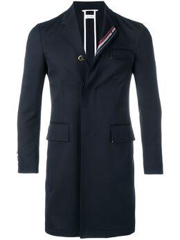 Thom Browne саржевое пальто с высокими проймами и полосками MOU567A04906