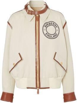 Burberry куртка-бомбер с графичным логотипом 4564076
