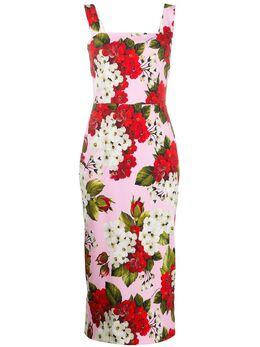 Dolce&Gabbana платье миди с цветочным принтом F6H4UTFSRMO