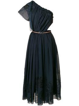 Fendi расклешенное платье миди на одно плечо FD9643A1TH