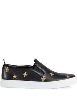 Gucci кроссовки-слипон с пчелами 407364AXWB0