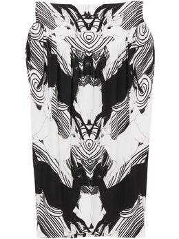 Burberry юбка с абстрактным принтом 4564195