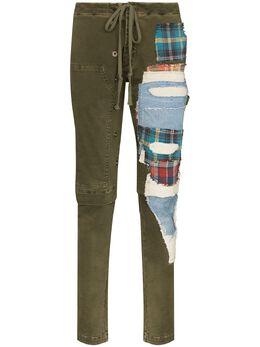 Greg Lauren узкие брюки в технике пэчворк SS20M231