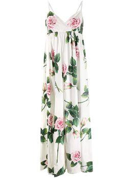 Dolce&Gabbana платье макси с принтом Tropical Rose F6H7ITHS5FZ