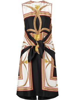 Burberry платье с архивным принтом 8014297