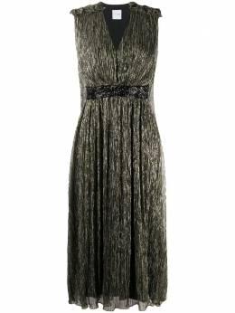 Halpern платье миди с эффектом металлик S20D08