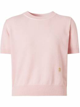 Burberry трикотажная футболка с монограммой 8028820