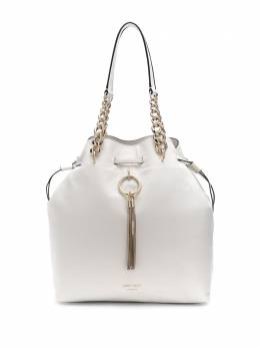 Jimmy Choo большая сумка-ведро Callie со шнурком CALLIEDRAWSTRINGLPKR