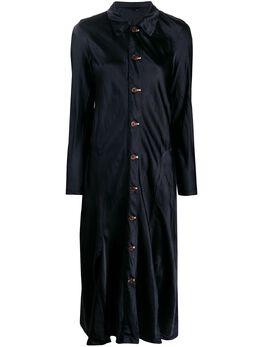 Comme Des Garcons Comme Des Garcons атласное платье на пуговицах REO018