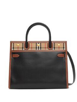 Burberry маленькая сумка-тоут в клетку Vintage Check 8025269