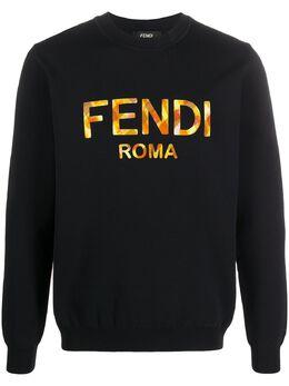 Fendi толстовка с логотипом FAE536ABT9