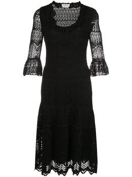 Alexander McQueen кружевное платье 610734Q1AMI