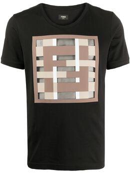 Fendi футболка с логотипом FF FY0894ABQY