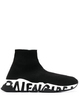 Balenciaga кроссовки-носки Speed 605942W05GE