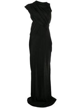 Rick Owens Lilies приталенное платье с открытой спиной LI20S2508JXLY