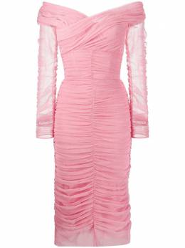 Dolce&Gabbana облегающее платье миди из тюля F6G8QTFLEAA