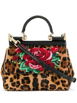 Dolce&Gabbana леопардовая сумка Sicily BB6003AZ395
