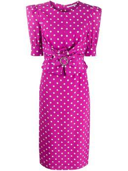Alessandra Rich приталенное платье с узором в горох FAB2107F2818