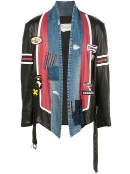 Greg Lauren джинсовая куртка в технике пэчворк SS20M026