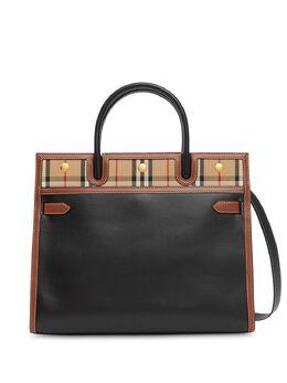 Burberry сумка-тоут среднего размера в клетку Vintage Check 8024694